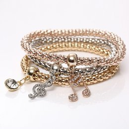 $enCountryForm.capitalKeyWord Australia - Multilayer 18K Gold Plated Fashion Bracelets For Women Austrian Crystal Pierced Heart Charm Bracelets Bangles Luxury Jewlery