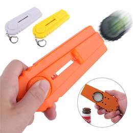 Bottle Hats Australia - Protable Cap Zappa Beer Bottle Opener Cap Launcher Shooter By Spinning Hat Fire Cap Shoot With Key Ring Gift