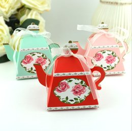 Wholesalers For Teapots NZ - 2019 Teapot Candy Boxes Wedding Favors and Gift Box for Guests Baby Shower Birthday Party Paper Bags Candy Box Party Supplies