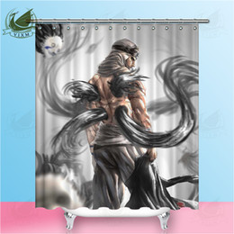 popular japanese cartoons NZ - Vixm Japanese Popular Anime Naruto Nine-tailed Fox Shower Curtains Movie poster Waterproof Polyester Fabric Curtains For Home Decor
