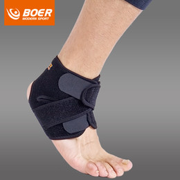 $enCountryForm.capitalKeyWord Australia - BOER 1pc Black Adjustable Ankle Support Pad Protection Elastic Brace Guard Support Ball Games Running Fitness A53