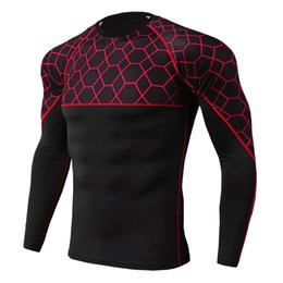 Wholesale Men s Running Sporting Compression Shirt Base Layer Running Long Sleeves Tights Workout GYM T Shirt