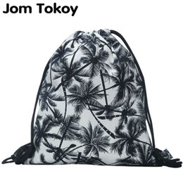 Discount harajuku backpack fashion - New fashion backpack 3D printing travel softback man women harajuku drawstring bag mens canvas drawstring