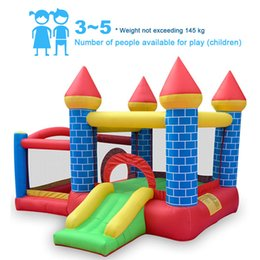inflatable jumping castles NZ - Outdoor Inflatable Slides Jumping Bouncer Castle Trampoline Children Gift Kid's Toy Household Family Use with Air Blower