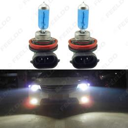 2x White H8 35W Car Fog Lights Halogen Bulb Headlights Lamp Car Light Source Parking Light #2240 on Sale