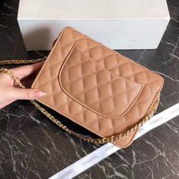 Luxury Chains Australia - 2019 Brand designer luxury ladies small chain shoulder bags plaid messenger bag women crossbody hot sale free shipping size:20x14cm 3A 09