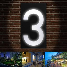house numbers led lights Australia - Solar Digital Doorplate Lighting Control Solar LED Wall Light House Number Villa Garden Light