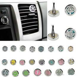 $enCountryForm.capitalKeyWord NZ - On Sale Car Perfume Clip Home Essential Oil Diffuser For Locket 30mm Stainless Steel Car Air Freshener Conditioning Vent Clip 23styles