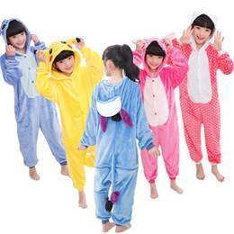 Jumpsuits Rabbit Girl Australia - Kids Panda Onesie Kigurumi Flannel Pajamas Cartoon Boys Girls Cosplay Hooded Animals Rabbit Bat Jumpsuit Pyjama Sleepers Blanket J190520