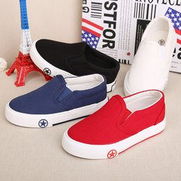 $enCountryForm.capitalKeyWord Australia - Children's canvas shoes, hand-painted shoes, exploded white sports games brand children's shoes, pure color kindergarten students'shoes