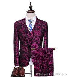 men s long wedding suit Australia - 2018 autumn man s suit High quality Men Suits Fashion embroidered suits Men's business wedding Suit men full size S-5XL