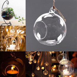 $enCountryForm.capitalKeyWord NZ - Clear Glass Round Hanging Candle Tea Light Holder Candlestick Home Wedding Party Dinner Decor Round Glass Air Plant Bubble Crystal Balls