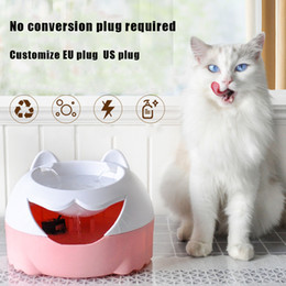 cat drinking water fountain 2019 - EU US plug Automatic Cat Dog Pet Drinking Fountain USB Power Drinking Bowl for cats dogs Water Dispenser Activated Carbo