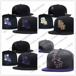 3d7969243abfb NCAA LSU Tigers Caps 2018 New College Adjustable Hats All University  Snapback in stock Mix Match Wholesale Order Gray black one size purple