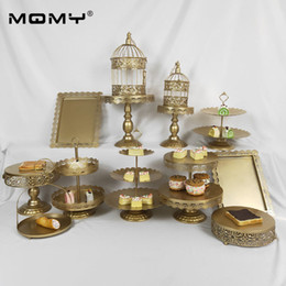 Decorate Cupcakes Australia - 13 pcs Fruit Gold 3 Tier Decoration Set Bird Cage Antique Wedding Iron Wholesale Decorating Supply Cake & Cupcake Stand