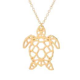 $enCountryForm.capitalKeyWord Australia - Animal Jewelry Silver Alloy Hollow Sea Turtle Charm Pendant Necklace Tortoise Cuckold Necklaces Pendants Bijoux Femme