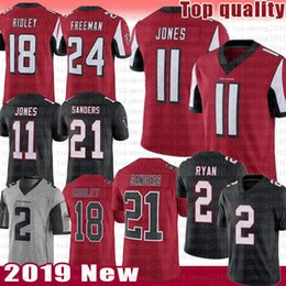 Wholesale Atlanta Jersey Falcons Julio Jones Deion Sanders Matt Ryan Ridley Devonta Freeman Color rush Grey Football Jerseys