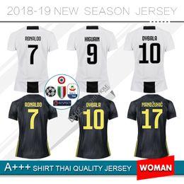bacf031722e 2018 Women soccer jersey ronaldo Maillots De Football Shirt 9 Higuain 10  Dybala 11 Costa 17 Mandzukic 33 Bernardeschi home third Kit player