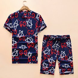 Sports T Shirt Pattern Print Australia - 2019 new hot summer men and women with the same personality full pattern printing couple short-sleeved T-shirt plaid suit sports simple wild