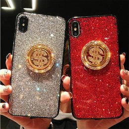 $enCountryForm.capitalKeyWord NZ - EGEEDIGI Premium bling luxury diamond rhinestones can be rotated gold coin flash phone case for iPhone XR XS MAX X 8 8Plus 7 6S Plus case