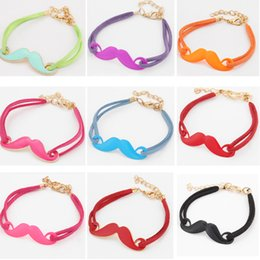 Discount quality mustache - Charms Bracelets New Individuality Accessories Elegant Brand High Quality Vintage Charm Mustache Leather Bracelet