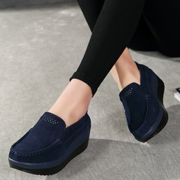 $enCountryForm.capitalKeyWord Australia - Spring Women Flats Shoes Platform Women Sneakers Slip On Ladies Flats Leather Elegant Shoes Mocassin Loafers Creepers 2019 New MX190816