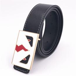d45035690 20 Cores Modas Itália Marcas Cinto De Luxo Unisex Cinto De Couro Das  Mulheres Dos Homens Jeans Cintura Cintos Hip Hop Grandes Olhos Cintos de  Lazer