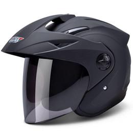 Women Half Helmets Australia - NEW ARRIVE H618 half face Motorcycle helmet electric bicycle helmets UV sunscreen anti-fog keep warm cycling helmet