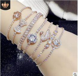 $enCountryForm.capitalKeyWord Australia - Crystal diamond adjustable bracelets bright bracelet big shine bracelets diamond lover christmas wedding bride gifts 506