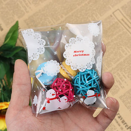 Discount cute cakes for birthday - 100Pcs lot Cute Cartoon Gift Bags Christmas Cookie Packaging Self-adhesive Plastic Bags For Biscuits Birthday Candy Cake