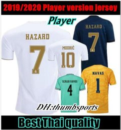 Discount free dhl jersey - 10 free DHL!Player version! 2019 real Madrid home soccer jerseys 19 20 HAZARD camiseta de fútbol 2019 2020 VINICIUS ASEN