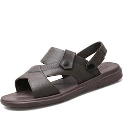 910efe76165 TZLDN Summer PVC Man Flats Men Sandals Slippers Men s trend Casual Wild  Non-slip Flat Soft elastic Sandal Men Shoes