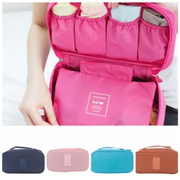 Discount bag case bra organizer - Bra Underwear Storage Bag 8 Colors Luggage Case Holder Portable Travel Waterproof Cosmetic Bags Organizer OOA6410