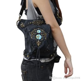 $enCountryForm.capitalKeyWord NZ - Factory wholesale brand bag tide products leather Steampunk pockets are multifunctional outdoor sports bag retro hip hop Leather Shoulder Ba