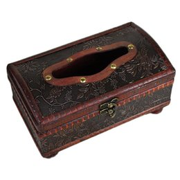 Antique Tissue Box Australia - Elegant Crafted Wooden Antique Handmade Old Tissue Box Antique Tissue Box JXD