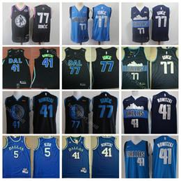 2019 All Star Luka 77 Doncic Jersey Dallas Basketball Mavericks Dirk 41  Nowitzki 5 Jason Kidd City Edition Navy Blue White Black 691f9798e