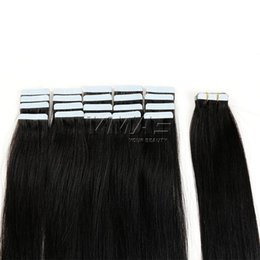 original straight hair NZ - Tape In Human Hair Extensions 2.5g piece 40pieces pack Original Natural Raw Virgin Brazilian Skin Wefts Tape Hair Natural Color