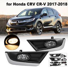 3611c3674ed5 DC 12V 40A H11 bombillas par luces antiniebla de parachoques de ABS para  Honda / CRV / CR-V 2017 2018 lámparas de conducción con arnés de cableado  delantero ...