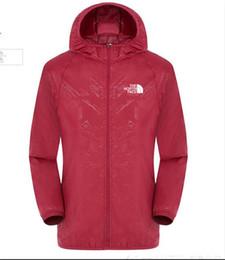 Windproof jacket summer online shopping - 2019 HOT Summer Womens Mens Brand Rain Jacket Coats Outdoor Casual Hoodies Windproof and Waterproof Sunscreen Face Coats S XL