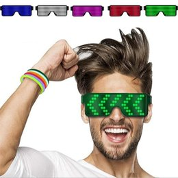 $enCountryForm.capitalKeyWord Australia - 8 style Quick Flash USB Led Party USB charge Luminous Glasses Glow Sunglasses Concert light Toys Christmas decorations Party Favor5181