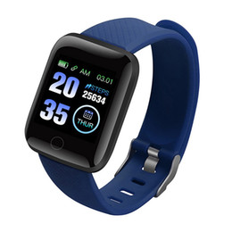 smart watch use dhl for shipping UK - 116 Plus Smart watch Bracelet Fitness Tracker Heart Rate Step Counter Activity Monitor Band Wristband DHL FEDEX Shipping