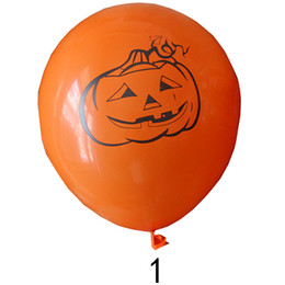 $enCountryForm.capitalKeyWord Australia - Latex Round Spider 12inch Cute Pumpkin Lovely Festival Decor Halloween Balloon Bar Favor Durable Props 10pcs