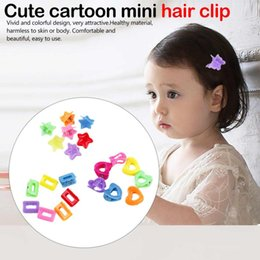 plastic butterfly hair clips 2019 - Hair Accessories Mini Hair For Baby Multi Colors Plastic Clips Butterfly Design Clamps For Children 10PCS discount plast