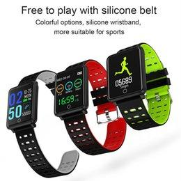 Heart Rate Track Smart Watch Australia - NEW Smart Bracelet 1.44 Inch Color Screen Heart Rate Blood Pressure Monitoring GPS Track Movement IP68 Waterproof Health Watch