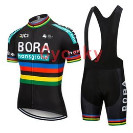 Wholesale bora Black Cycling Jersey bib shorts Uniform Bike Clothing Bicycle Wear Clothes Men Short D Gel Pad Maillot Culotte Suit