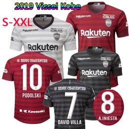 4531f012a15 Japan J.League 2019 Vissel Kobe soccer jersey home away third 19 20  A.INIESTA PODOLSKI DAVID VILLA football shirts top quality customize