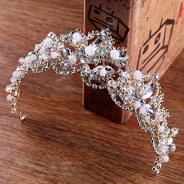 Bridal Hair Accessories Gold Australia - 2018 New Arrival Luxury Baroque Gold Bride Crystal AB Hairbands Rhinestone Pageant Bridal Tiaras Crowns Wedding Hair Accessories D19011102