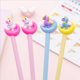 Stationery Australia - 1PC Cute Kawaii Creative Unicorn 0.38mm Black Ink Neutral Wrting Pen Ins Fashion School Office Stationery Supplies