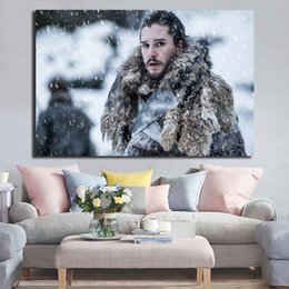 $enCountryForm.capitalKeyWord NZ - Jon Snow Painting Kit Harington Game of Thrones Canvas Painting HD Wall Picture Poster And Print Decorative posters image Home Decor