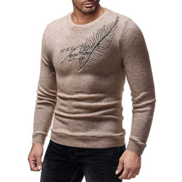 Discount sweater casual slim fit mens - Mens New Embroidery Knitted Sweaters Spring Fashion Slim Fit Long Sleeved Tops Tees Sweater